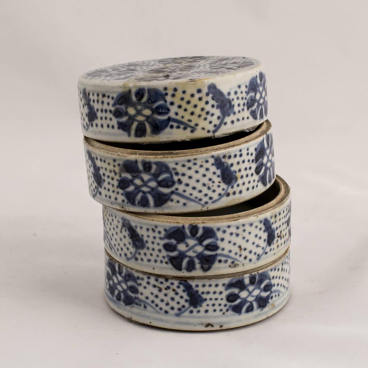 Compostiera – antipastiera bianco blu