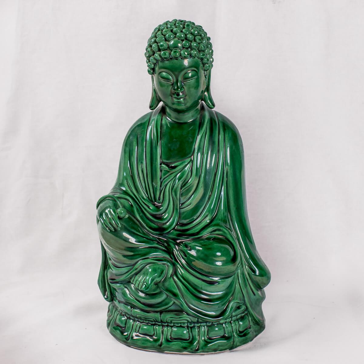 Buddha seduto verde