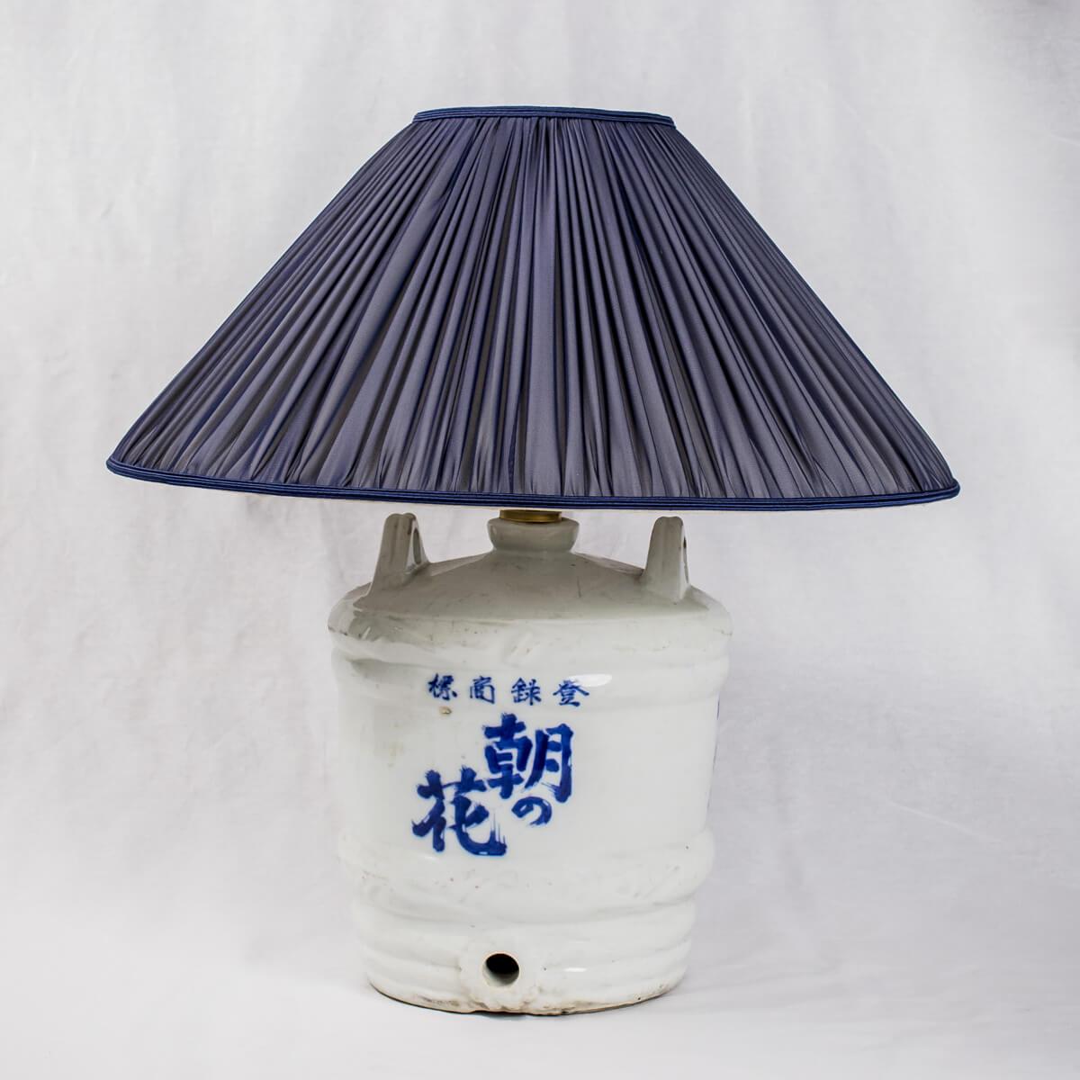 Bottle sakè giapponese con lumi