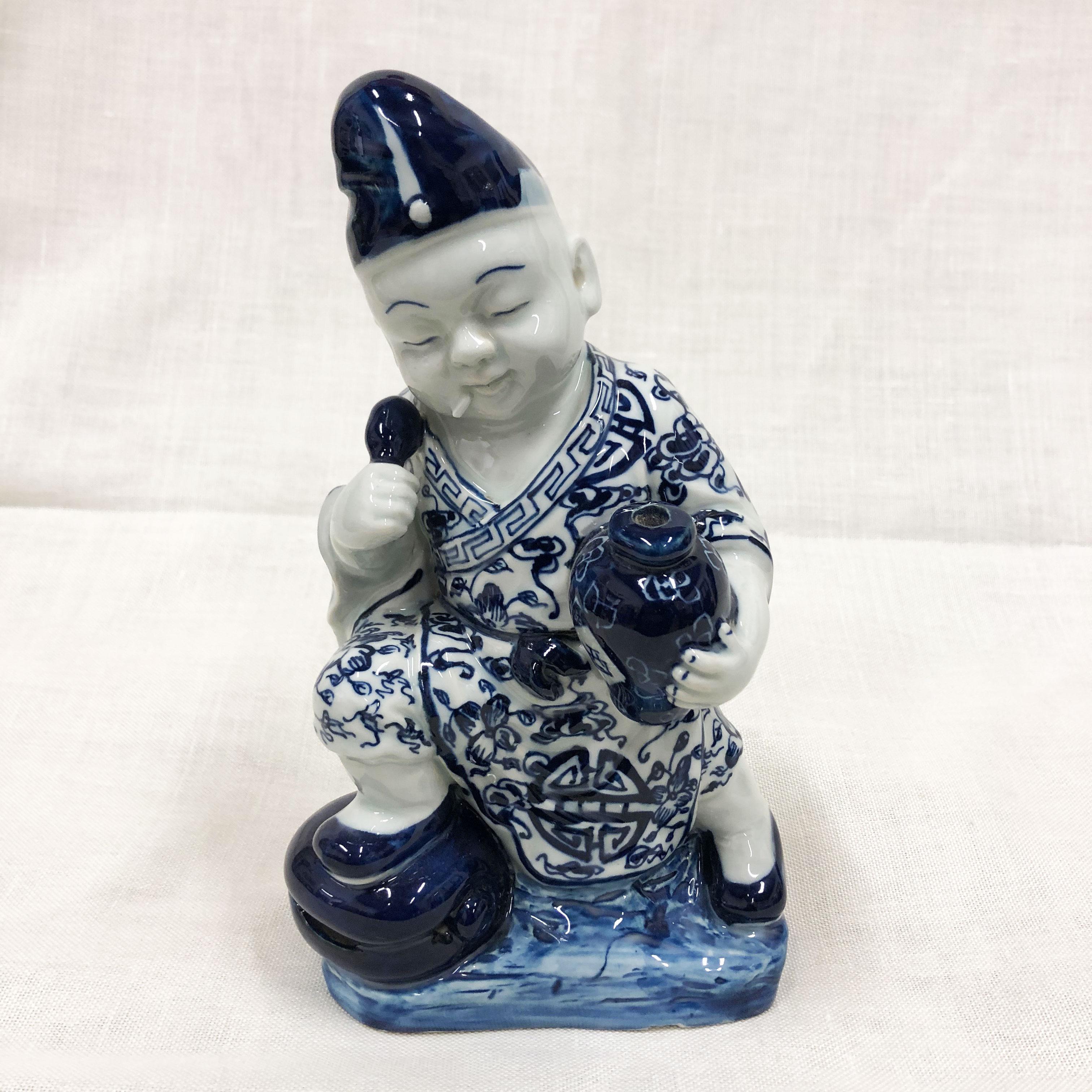 Buddha lavoratori bianco blu